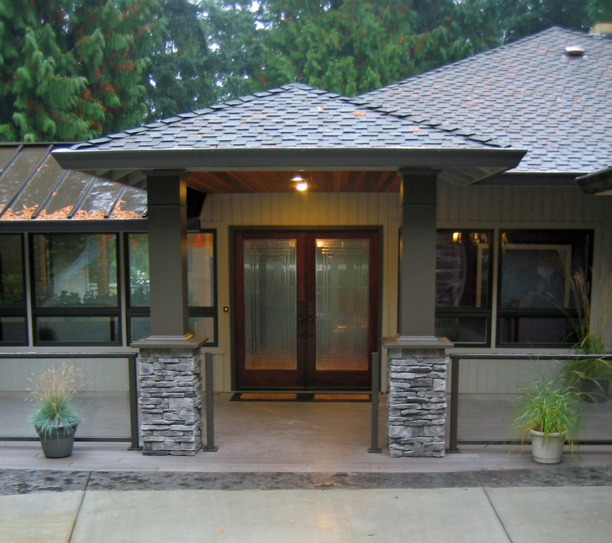 Craftsman style garage door spillo caves for 70s home exterior remodel